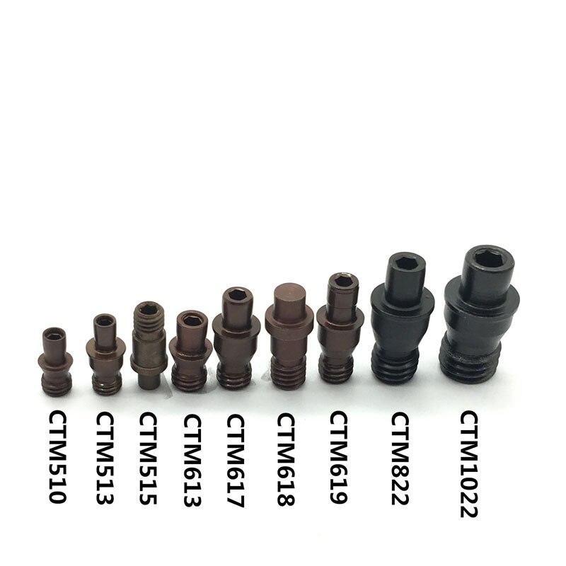 10 Uds CTM510 CTM513 CTM515 CTM613 CTM617 CTM618 CTM619 CTM822 CTM1022 CNC herramientas de torno Centro Pin Arbor accesorios tornillo pines