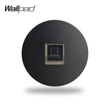 Wallpad L6 noir blanc gris CAT6 RJ45 PC Ethernet ordinateur données mur câblage prise de Port modulaire bricolage combinaison gratuite