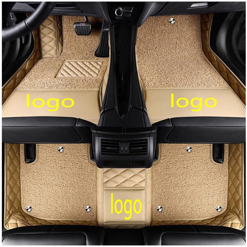 Alfombrillas de suelo de coche con logotipo personalizado para Honda Crosstour avancer Jade gicualquier Everus Crider Acura CDX MDX RDX TL TLX ZDX estilo de coche