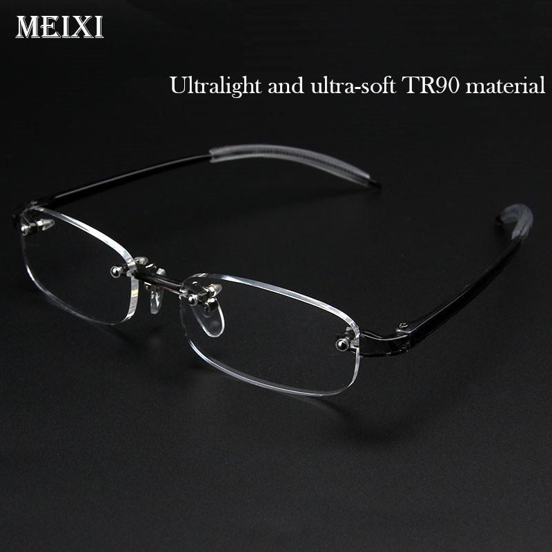 Очки без оправы TR90, ультралегкие очки для близорукости в коробочной упаковке, очки для близорукости для женщин и мужчин-1,0-1,5-2-2,5-3-3,5-4