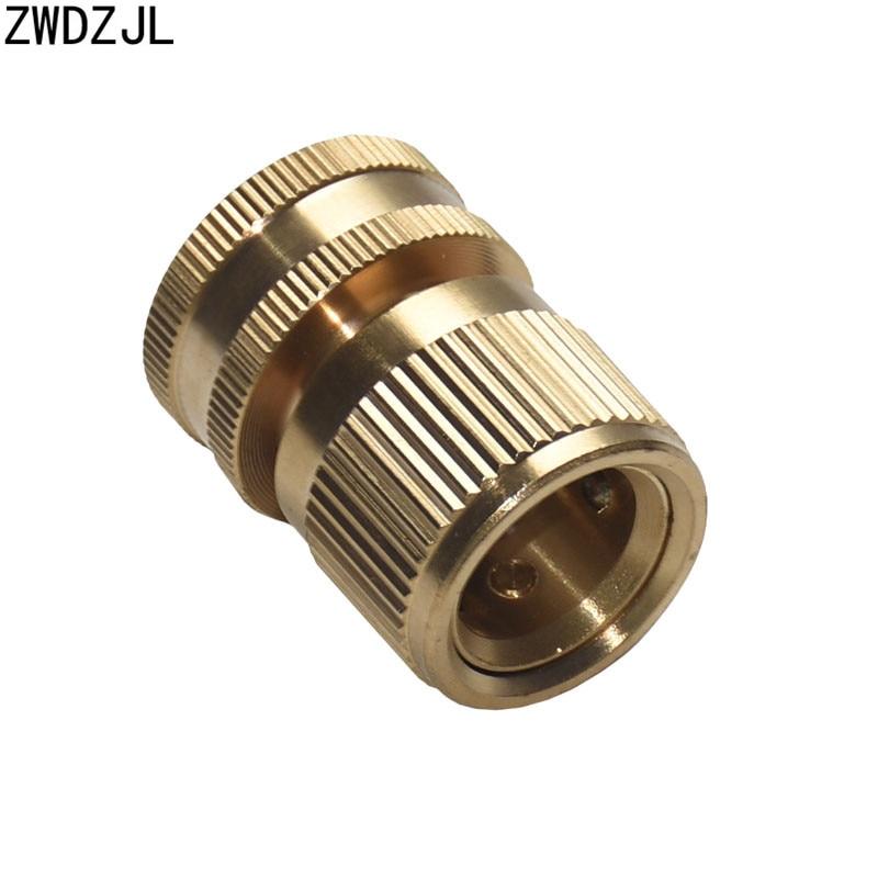 Lavagem de carro pistola água torneira bronze fêmea 3/4 conector rápido jardim conector irrigação adaptador cobre puro 1pcs