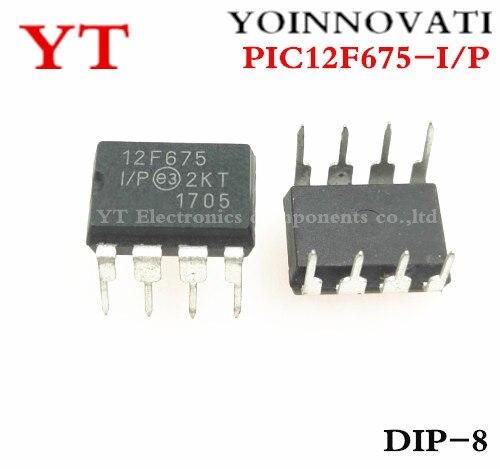 Frete grátis 50 pçs/lote PIC12F675-I/P MCU PIC12F675 8BIT 1.75KB FLASH DIP8 IC Melhor qualidade.