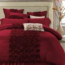 Ensemble de literie de luxe en soie coton   parure de lit, reine roi, Super King taille, housse de couette, drap, parure de lit, pour adulte