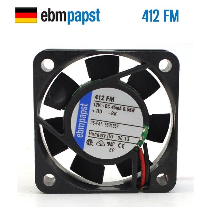 NEUE ebmpapst PAPST 412FM 4010 DC12V 0,55 W 4 CM Axial lüfter