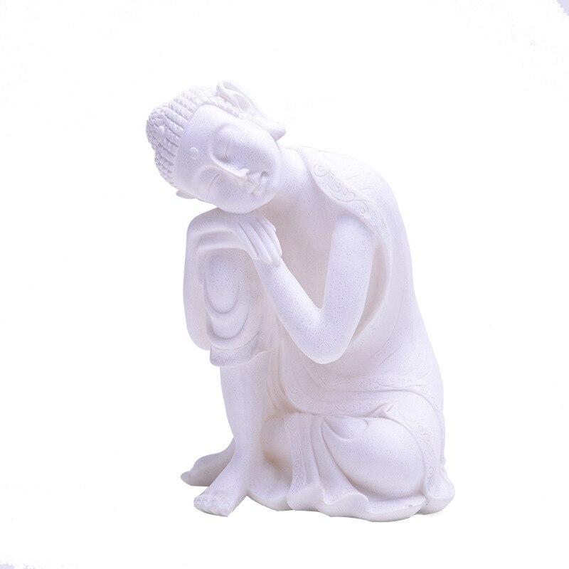 Sandstone Buddha Statue India Yoga Mandala Sculptures Sandstone Home Decoration Accessories Figurine Ornaments R61