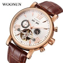 2020 New Tourbillon Watch Mens Multifunction Mechanical Watches Top Brand Luxury Rose Gold Plated Au