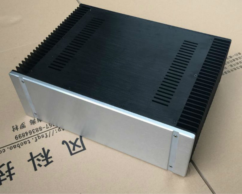 Alumínio 4315 classe a amplificador de potência gabinete/chassi/caso 430*150*311 com dissipador de calor