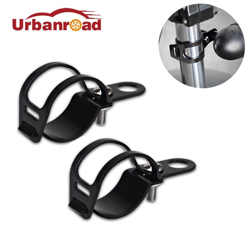 2 unids/par soporte de luz de motocicleta soporte de señal de giro soporte de montaje pinzas de horquilla para reubicación para horquilla de 30MM-45MM negro