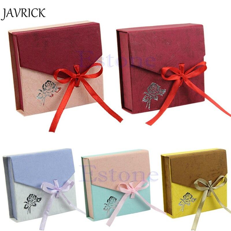 Caja de joyería, nuevo paquete de pulseras cuadrado, caja de exhibición de joyería con lazo, caja de regalo, caja de regalo, caja de embalaje, organizador de joyería
