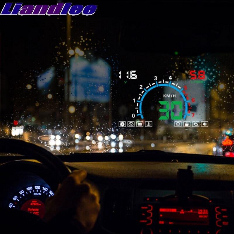 Liandlee HUD para Nissan Fairlady Z Z34 370Z 350Z Z33 GT-R 35 paladín velocímetro OBD2 la pantalla Monitor grande de HUD