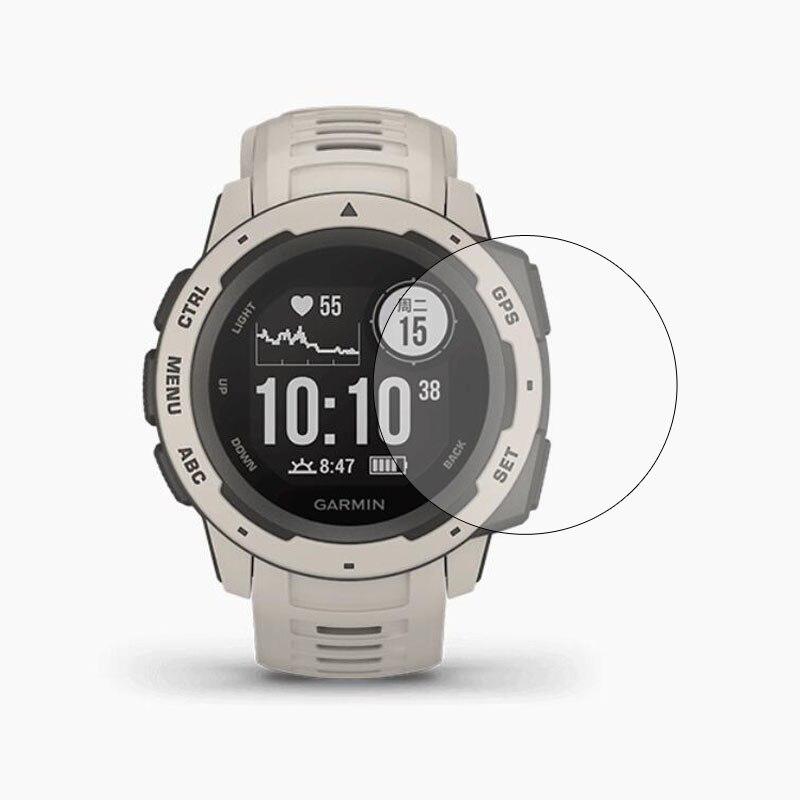 Película protectora de vidrio templado claro protección para Garmin instinto táctico GPS deporte reloj Smartwatch funda protectora de pantalla