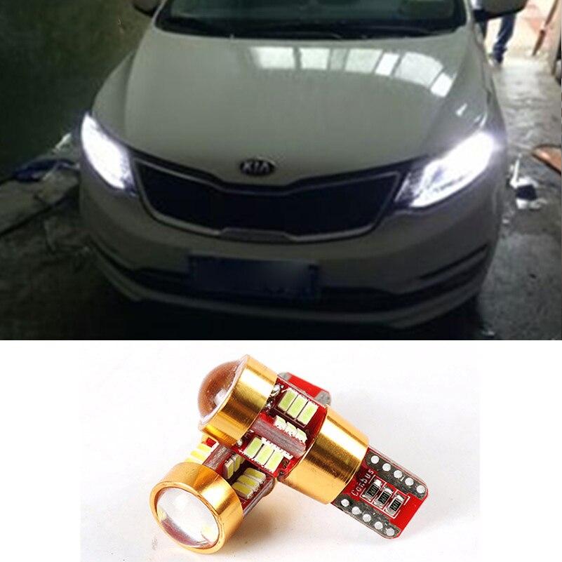 2x T10 W5W LED COCHE bombilla Auto Luz de cuña lámpara para Kia Rio 3 4 Ceed Sportage 3 4 Sorento Cerato Optima Picanto alma K3 K2