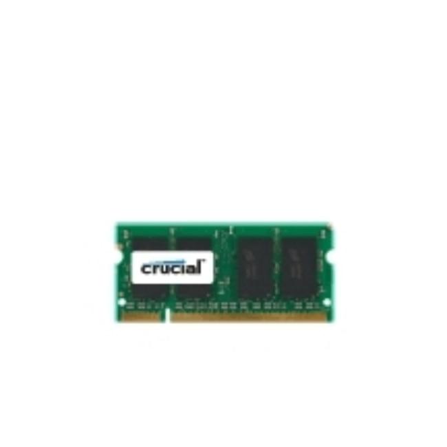 """Crucial 2 GB DDR2 SODIMM 2 GB 1x2 GB DDR2 800 MHz 200-pin SO-DIMM """"Verde"""