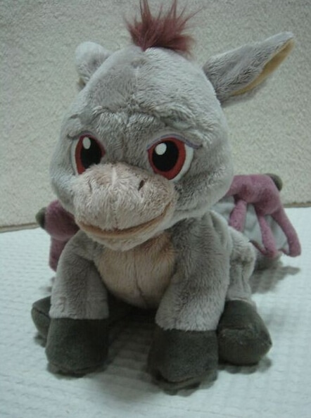 Película de dibujos animados Fly Dragon felpa juguetes 30 cm PP algodón Shrek Peluche de dinosaurio volador de peluche