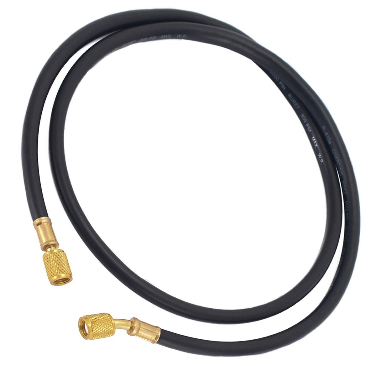 Práctico estándar R410a manguera de carga 150cm HVAC 1/4 pulgadas SAE 800PSI manguera de montaje AC refrigerante de carga mangueras