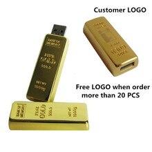 Offre spéciale LOGO du client clé USB lingot barre dor clé USB U disque 4GB 8GB 16 GB 32 GB clé USB