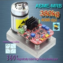 DC12-24V Servo à couple élevé 380kg. cm ASME-MRB Servo encodé magnétiquement sans Contact à 360 degrés