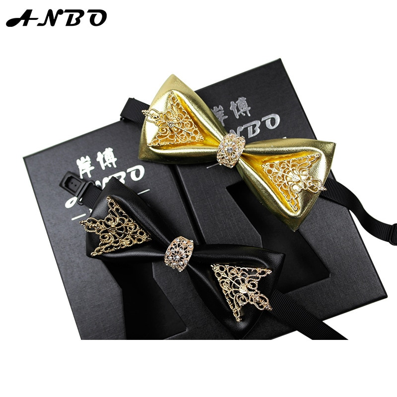 Fashion Leather England Bow Ties Men Gifts  Luxury Tie  Men Accessories  Mens Knit Ties