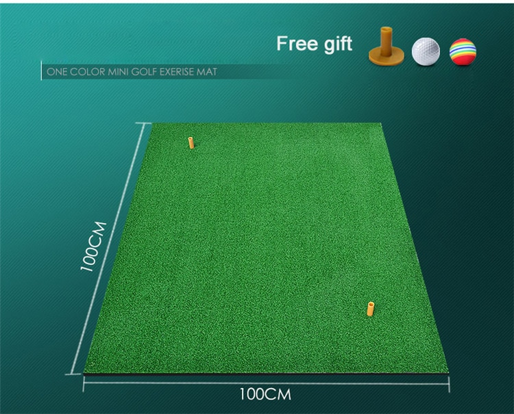 100x100x1 см Коврик для игры в гольф на заднем дворике, коврик для тренировок в жилых помещениях, Тренировочный Коврик для игры в гольф, резиновы...