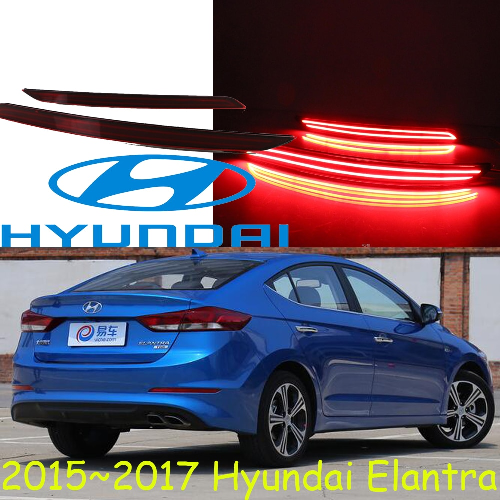 Elantra rear light,2015~2017,LED,free ship!accent,IX35,IX45,Genesis,i10,i20,santa fe,tucson,veracruz,lantra,Elantra fog light