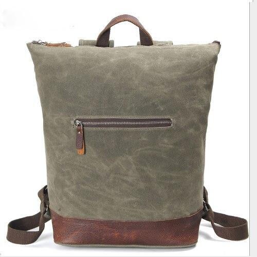 Mochila ArmyGreen de lona para hombre, mochilas para ordenador portátil de negocios, mochilas escolares para estudiantes universitarios, bolsa de viaje para Notebook, mochila grande para hombre