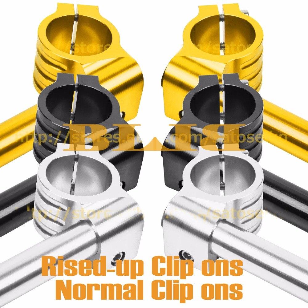"Para Kawasaki KL250 D2-D21 KLR250 KLX250 A1/A2 KZ1000 A1-A4 Set 36mm 7/8 ""22 CNC Moto Clip Ons aumentó/Normal manejar bares puños"