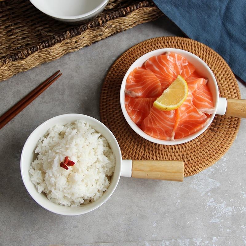 European creative ceramics With handle Steamed Rice small   soup bowl dessert breakfast bowl dessert  bowl  tableware F