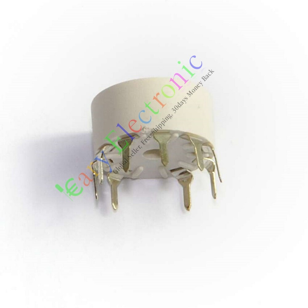 Wholesale and retail 20pcs 9 pin Plastic Tube socket PCB Mount B9A Base tube amp for 12AX7B 12AU7 diy free shipping