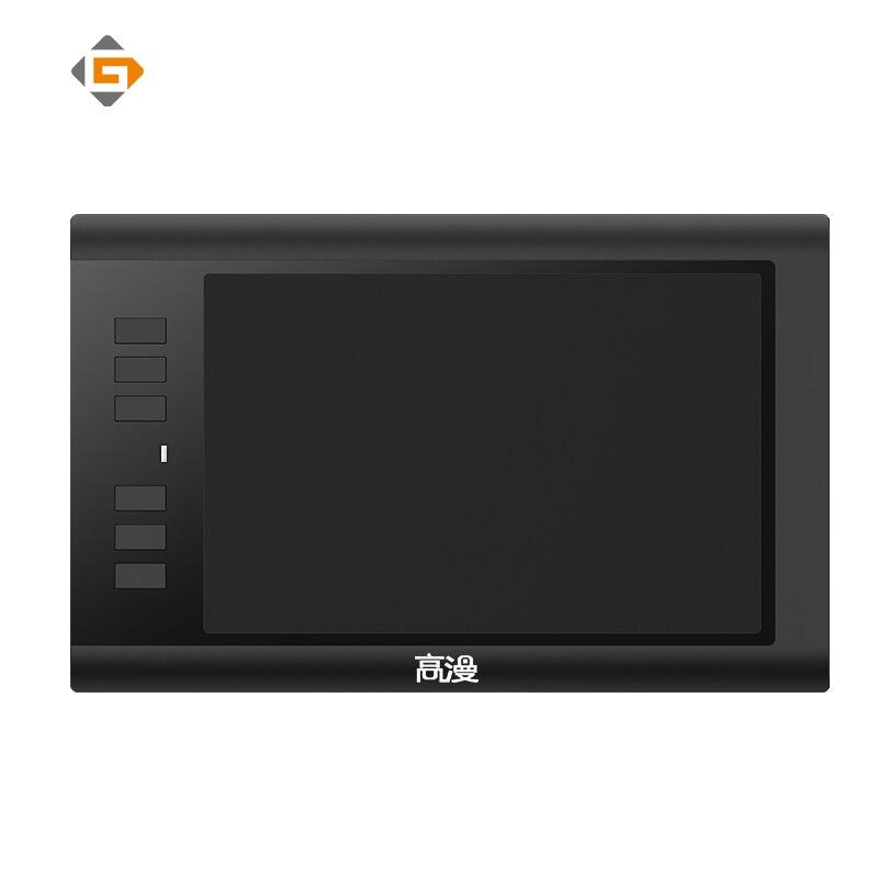 GAOMON 860T 8x5 pulgadas Tabletas digitales tableta gráfica de artista para dibujar con USB Digital pluma y 6 teclas exprés OSU juego WACOM