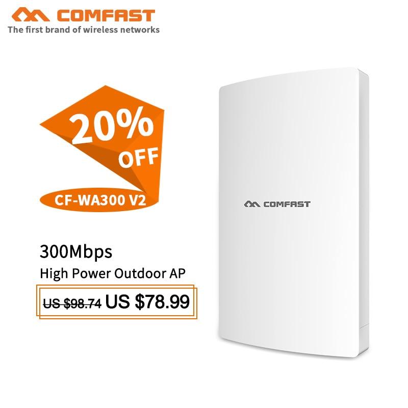 De alta potencia de 300Mbps más usuarios inalámbrico punto de acceso para exterior router 2,4G de red puente Wi-Fi repetidor de señal base de amplificador estación AP CPE