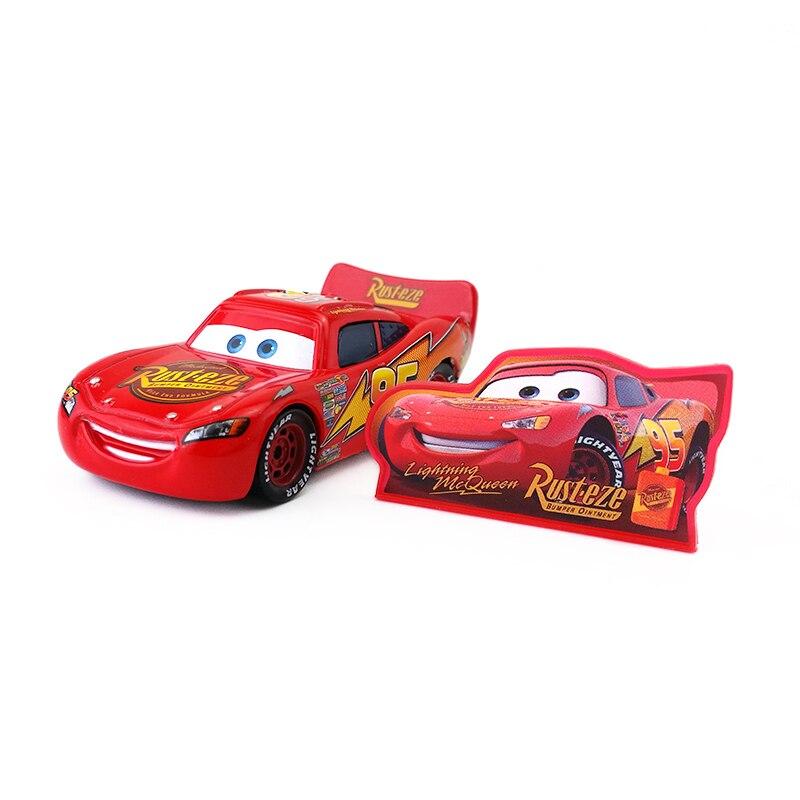 Disney Pixar Cars Rayo McQueen con signo de Metal Diecast coche de juguete 155 suelto nueva marca en stock y envío gratis