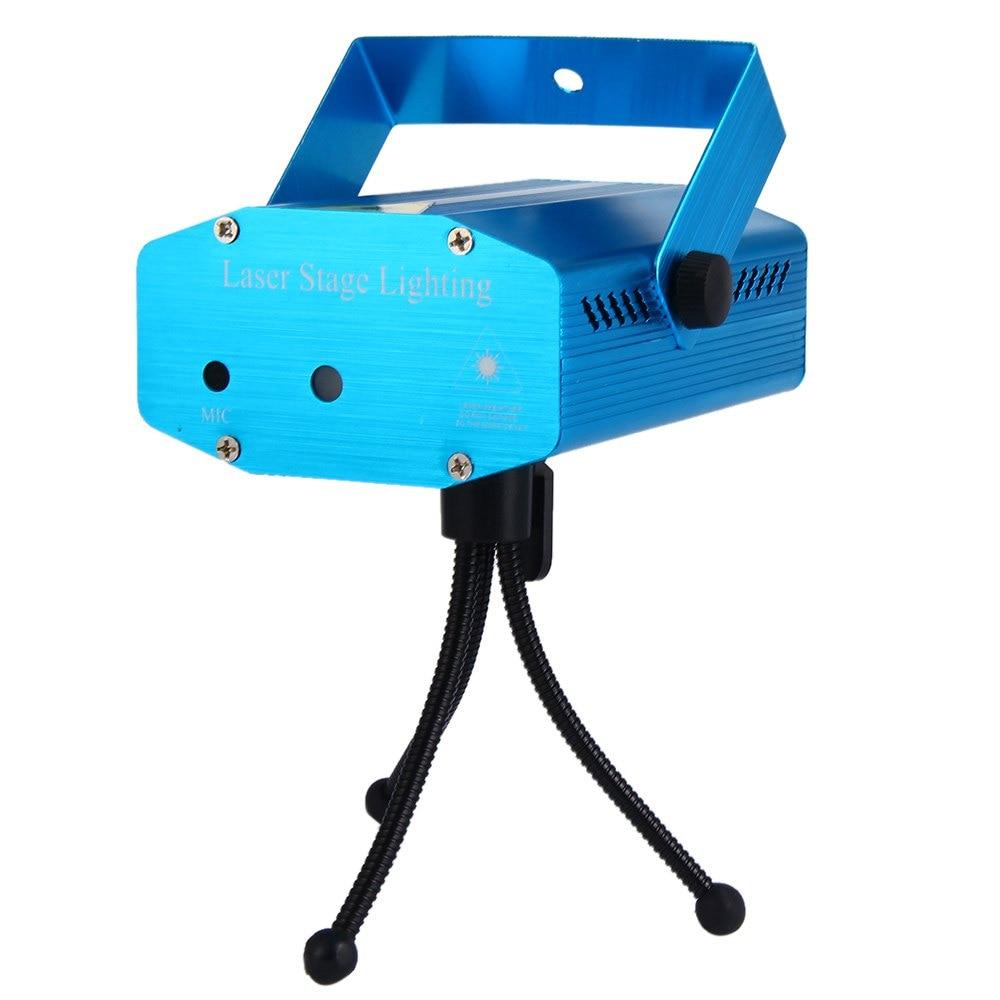 Control automático de voz Original láser rojo verde paisaje proyector luz para fiesta KTV Bar Stage con trípode US/EU Plug