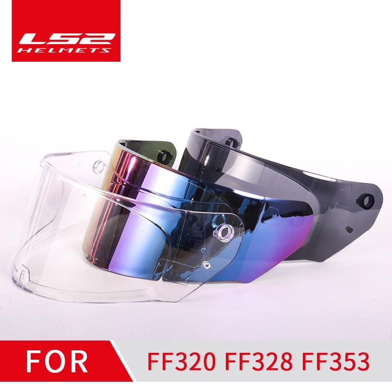 Visiera casco LS2 ff320 adatta per LS2 FF320 FF328 FF353 modello trasparente fumo lente casco colorata senza foro pinlock