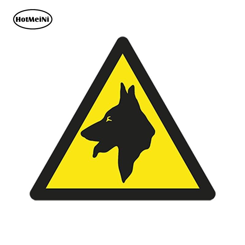 HotMeiNi 13x13cm Car Accessories Danger Dog Warning 3D Car Sticker Caution for Door Laptop Fridge Bumper Tablet Waterproof Decal