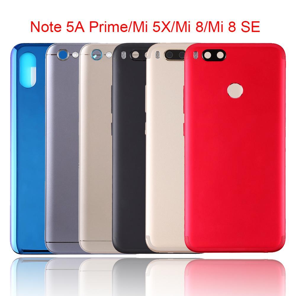 Reemplazo de la carcasa trasera para batería para Xiaomi rojo mi nota 5A Primer/mi 5X/A1/8 SE puerta de la batería carcasa trasera caso protector Shel