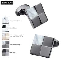 hawson elegant mother of pearl cuff links pretty design cufflinks for wedding luxury gift