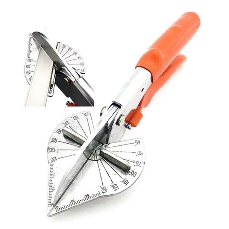 Novo 45-135 ângulo grau fio trunking scissor pvc pe plástico tubo slot fio cortador ajustável ângulo grau fio slot ferramenta de corte