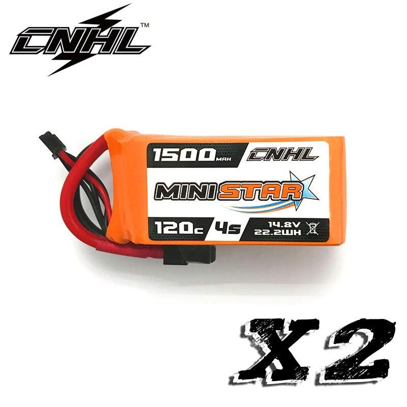 2 uds CNHL MiniStar 1500mAh 14,8 V 4S 120C batería Lipo