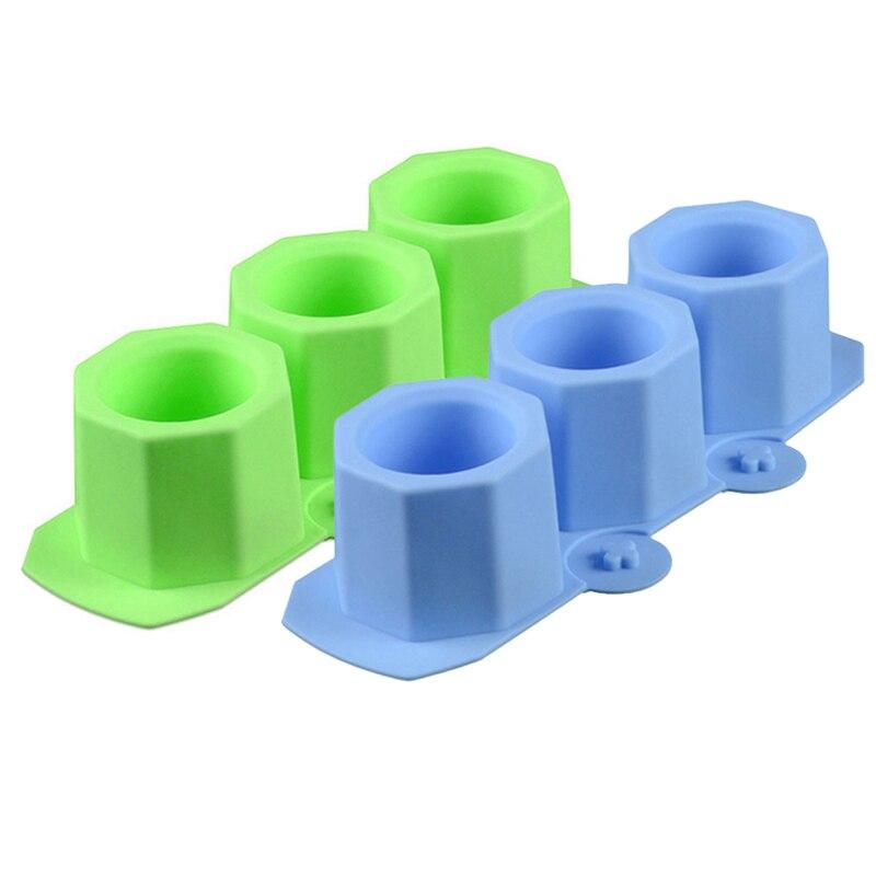 ¡Novedad de 2019! Molde multifuncional para maceta, molde de silicona fundido para hormigón, molde creativo de cerámica para maceta de 3 agujeros