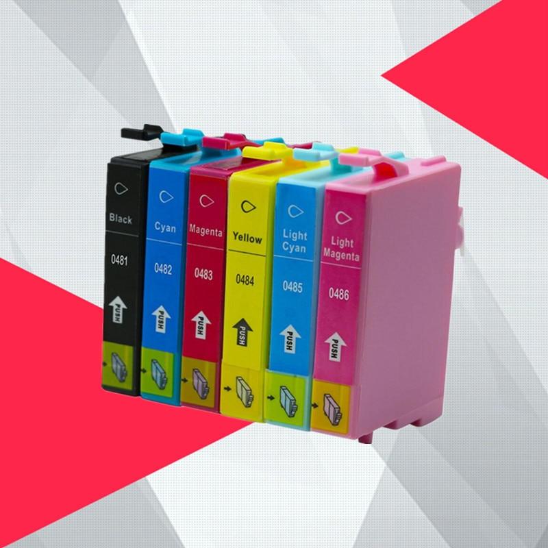 T0481 Ink Cartridge For Epson T0481 - T0486 Stylus Photo R200 R300 R340 R300 R300M R320 RX500 RX600 RX620 RX640 Printer
