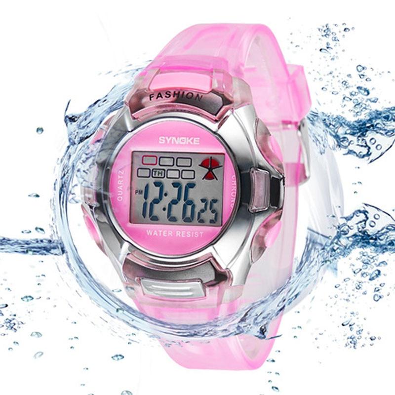 Fashion Kids LED Digital Watch Sports Kid Watches Boy Girl Wristwatches Waterproof Children Relogios Rubber Band Electronic Saat
