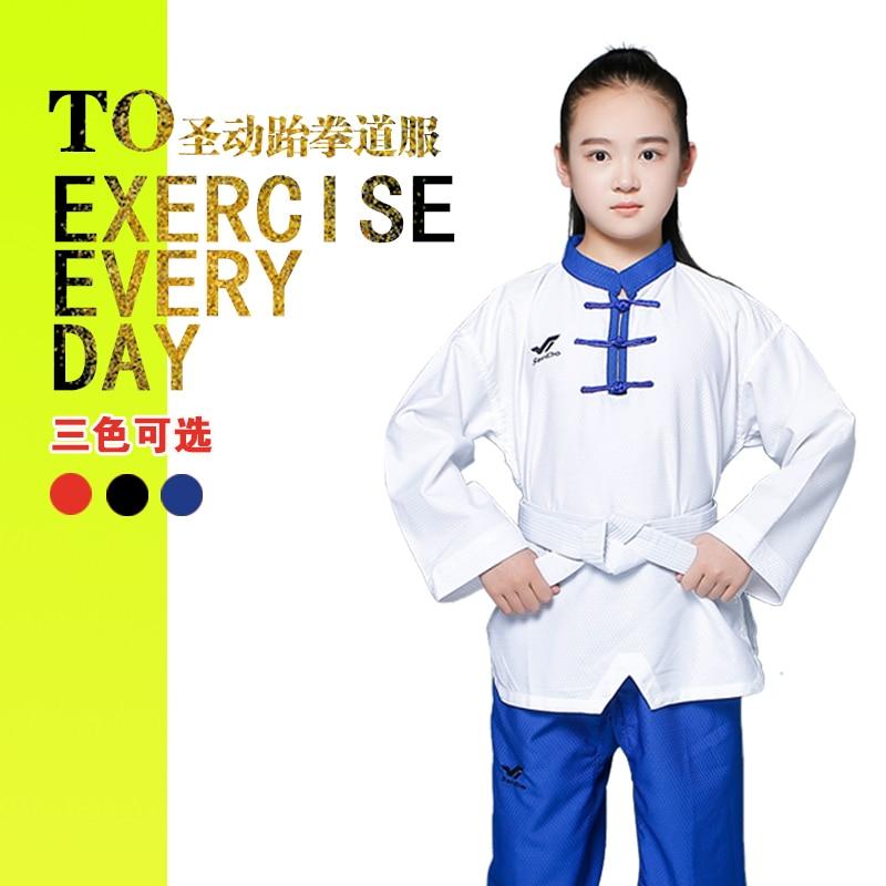 Taekwondo Clothes for Children Adult Men Women Performing clothes Coaching Uniform Martial art Training Dobok 3 Colors 9 Size