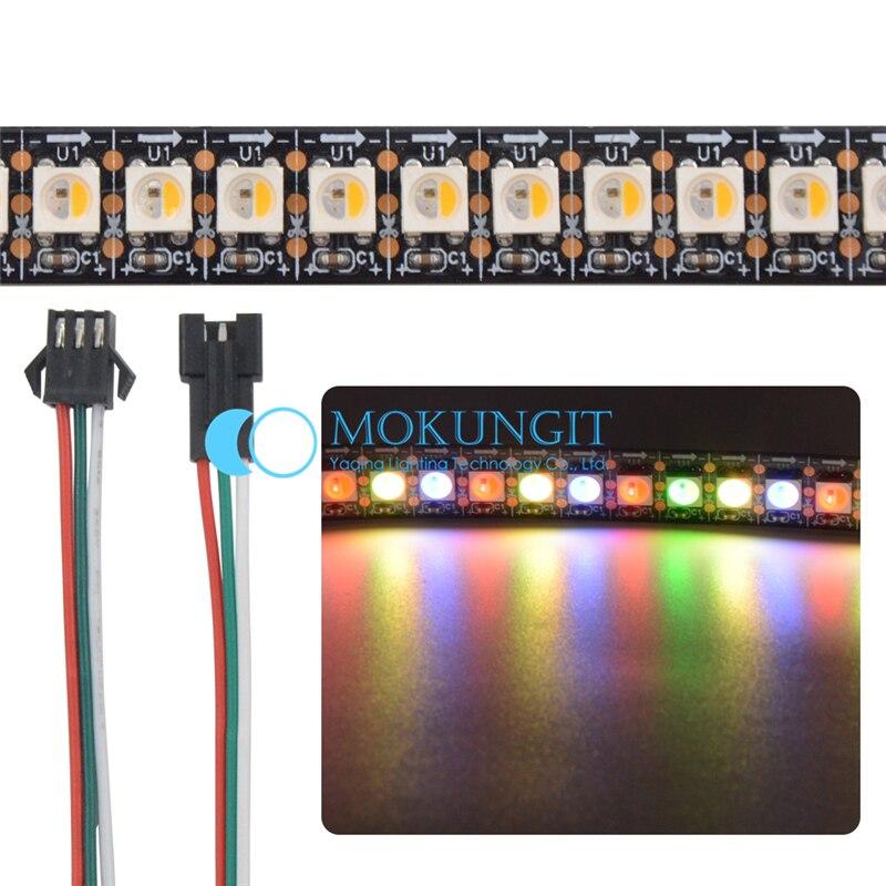 5X1M SK6812 RGBW Warm /Cool White 4 color in 1 Chip 144 leds/Pixels/m 5050 SMD LED Strip White/Black PCB IP65/IP67/IP30 DC5V