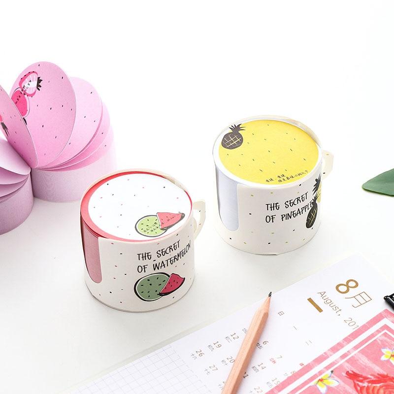 1 unidad de Pequeña Hada en forma de taza, post-mensaje creativo repetido, Bloc de notas, pegatinas de papelería para estudiantes