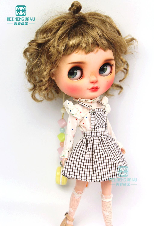 1PCS Blyth clothes fashion coffee strap dress, T-shirt for Blyth Azone 1/6 doll accessories недорого