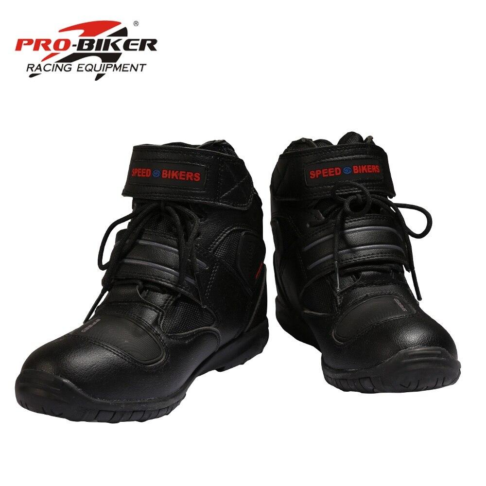 A005 botas de motocicleta macio pro boot motociclista à prova dwaterproof água velocidade motos homens botas de motocross não-deslizamento sapatos de motocicleta