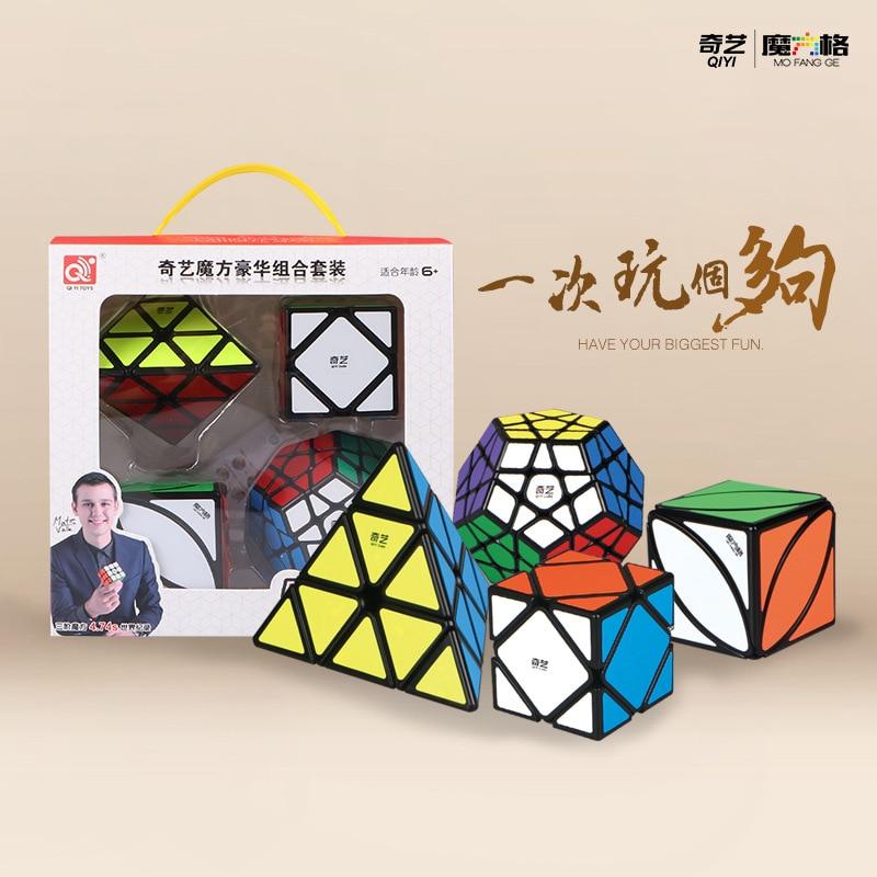 طقم مكعبات Mofangge مكون من 4 قطعة/المجموعة/مجموعة QiYi Magico طقم هدايا 2x2x 2/3x3x 3/4x4x 4/5x5x5 مكعبات احترافية مرحة للأطفال