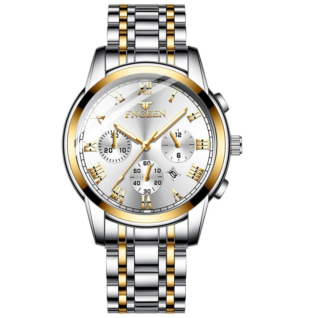 Relojes de pulsera para hombre, marca de lujo Orlando 2018, relojes de cuarzo para hombre, reloj de negocios para hombre, reloj de pulsera informal de moda para caballero