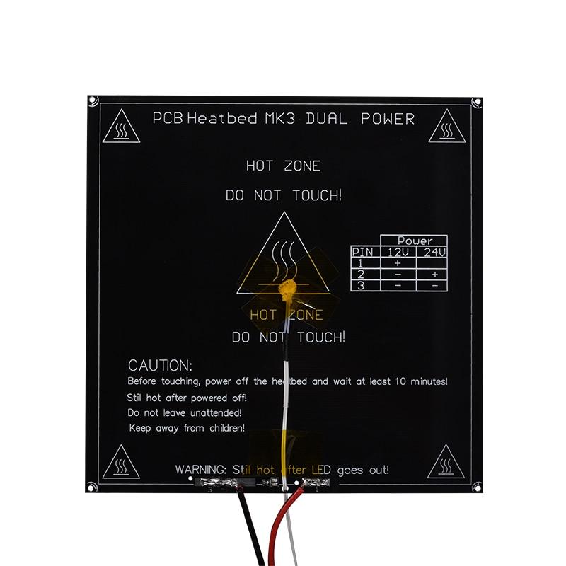 Новый heatкровать RepRap MK3, 214*214*3 мм + LED + резистор + кабель, Алюминиевый диаметр подогрева кровати, как MK2B 3d принтер
