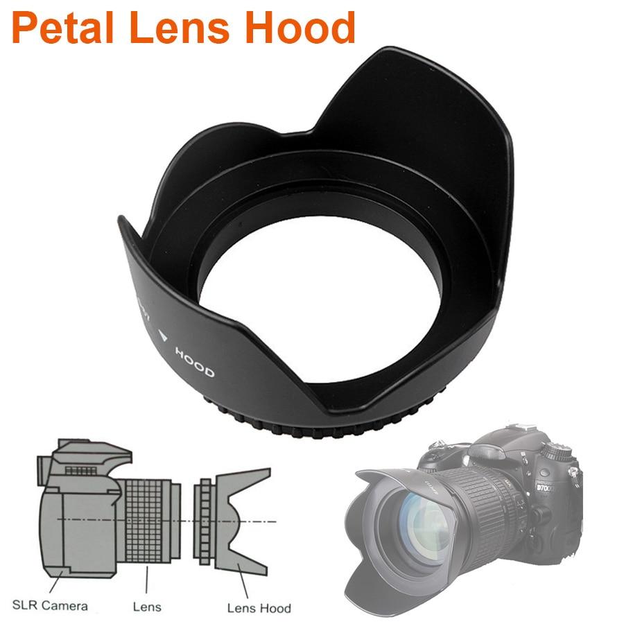 Universal Petal Lens Hood 49mm 52mm 58mm 55mm 62mm 67mm 72mm 77mm 82mm Screw-in Tulip Flower Filter Thread Camera Lente Protect